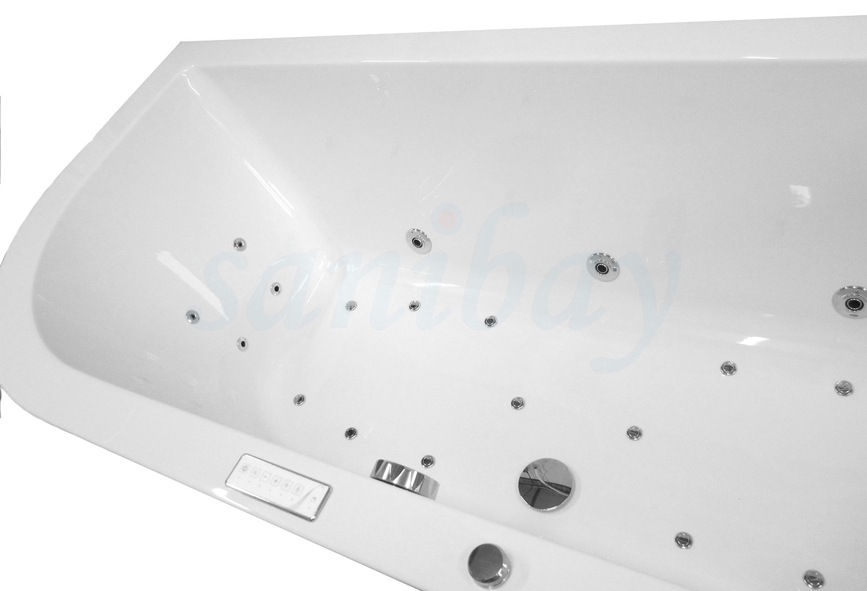 sechseck whirlpool sanibay adliswil 190x90cm mit whirlpoolsystem comfort. Black Bedroom Furniture Sets. Home Design Ideas