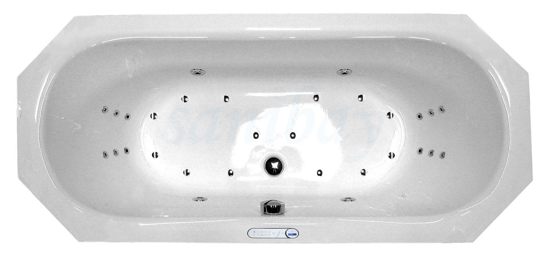 Beispiel 1 Badewanne mit Whirlpool Maxi-Deluxe