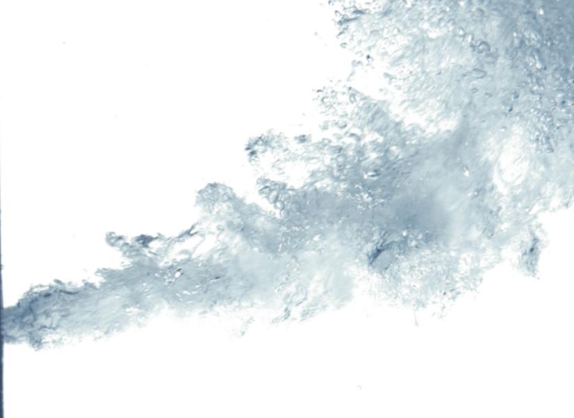 Wasserstrahl seitliche Duese